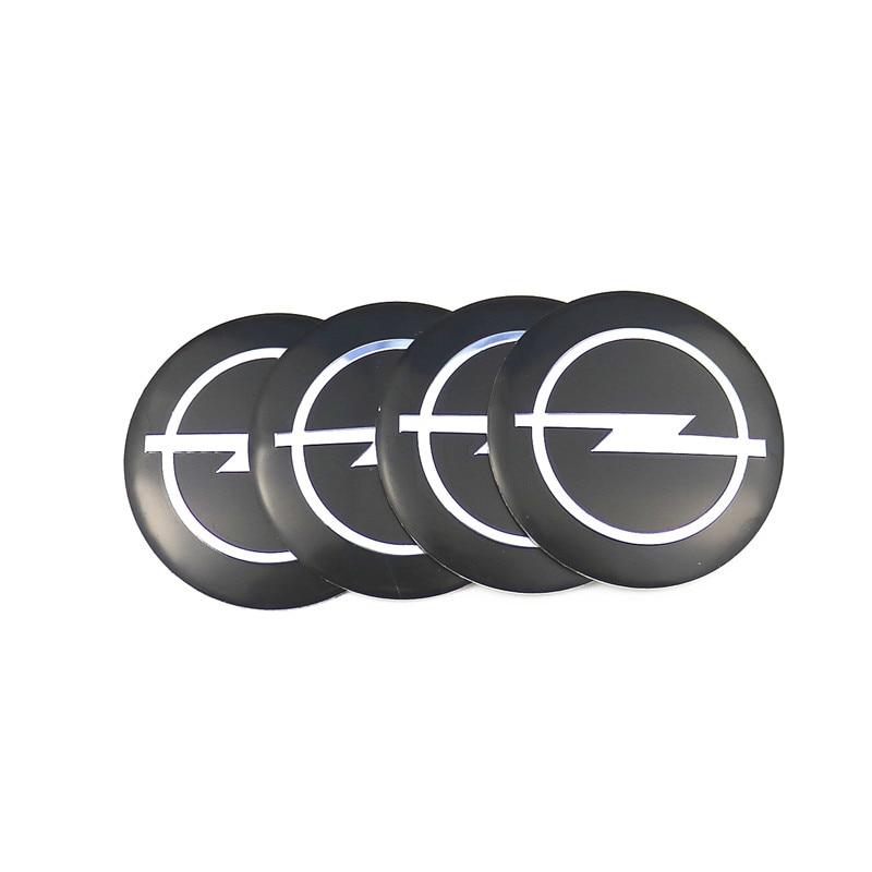Car Styling 4Pcs Wheel Center Hub Cap Stickers 56.5mm Emblems For Opel Astra H G J Corsa Insignia Antara Meriva Zafira