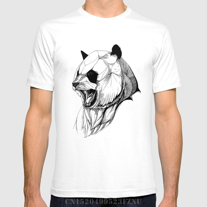 2018 Favourite t shirt men Angry panda short O neck Letter Cotton 3d tees homme Clothing