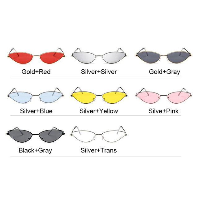 Cute Sexy Cat Eye Sunglasses Women Retro Small Black Red Pink Cateye Sun Glasses Female Vintage Shades For Women 10