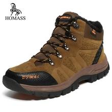 520422ffe93527 HOMASS Super Warm Men Winter Boots Quality Suede Snow Boots Fur Plush Snow  Shoes For Men