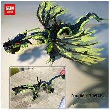 694 шт. Лепин 06018 marvele ninjaed Building Block фигурку модель Наборы кирпич Игрушечные лошадки