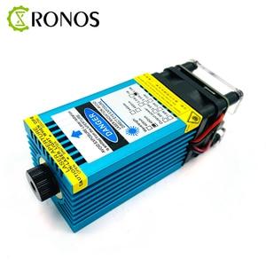 Image 5 - 5.5w 450nm mavi lazer modülü lazer odaklama gravür ve kesme TTL modülü 5500mw lazer gravür olabilir ahşap