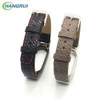 HANGRUI Ture Braided Leather Mi Band 2 Strap Smart Bracelet For Xiaomi Mi Band 2 Strap