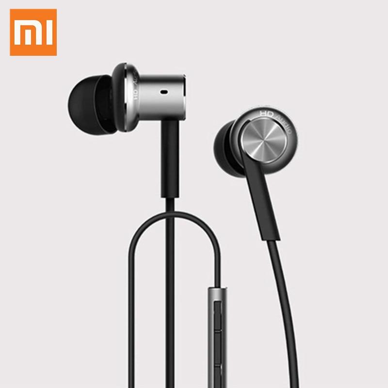 Original Xiaomi Hybrid Earphone 2 Units In-Ear Metal Bass HiFi Headset Ring Circle Iron Headphone With MEMS Microphones