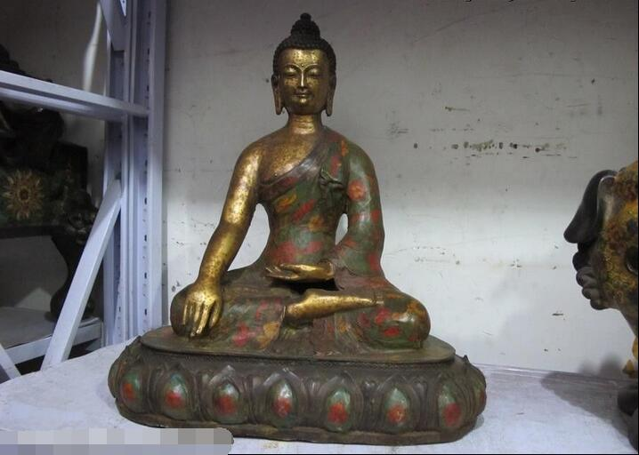 17Tibet Buddhist Fane classical Old Bronze cloisonne Sakyamuni Buddha Statue17Tibet Buddhist Fane classical Old Bronze cloisonne Sakyamuni Buddha Statue