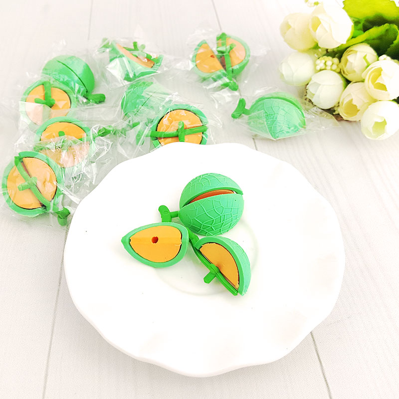 2X Creative Fruit  Kawaii Stationery Learning Office Appliance Escolar Child Toy Eraser Kawaii Gift Free Shipping