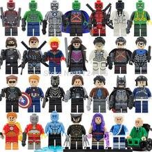 Marvel DC Single Sale Superhero Legoingly Figure Deadshot Deathstroke Iceman Nightwing MK2 font b Building b