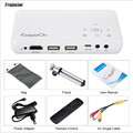 10PCS GP1S DLP Projector AV IN/SD/USB/VGA/HDMI Home Theater 800*480 Resolution 500 Lumen Proyector support DVD/Mobile Phone