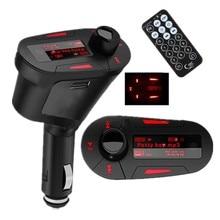 Luz roja Kit de Transmisor Inalámbrico USB Reproductor de MP3 Del Coche Para SD MMC LCD FM Del Modulador Del Transmisor Remoto