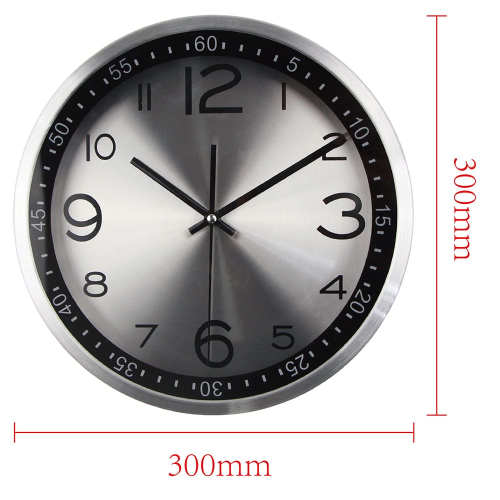 Sturdy Quality Silent Vintage Clock Quartz Metal Wall Clock Wandklokwith Luxury Light Frame Wall Watches Quiet Wall Clocks From Home Quality Silent Vintage Clock Quartz Metal Wall Clock furniture Wall Clock Designer