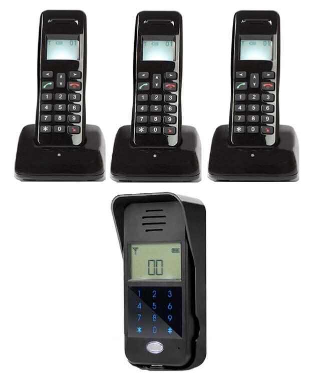 MOUNTAINONE New Arrivial Wireless Digital Audiio Door Phone,Password unlock / intercom system for 3-apartments