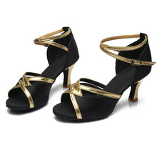 Black Salsa Dance Shoe for Girls