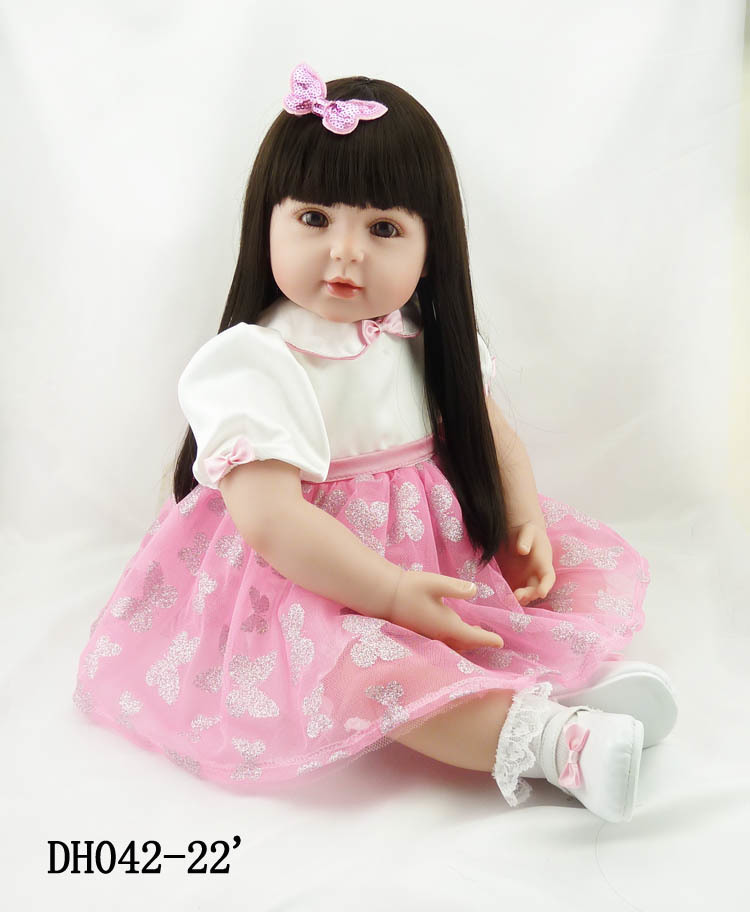 Hot Sale 24 Inch Butterfly Pattern Princess Dressed Adora Toddler Silicone Reborn Baby Dolls For Sale Girl Doll Toys Gifts hot sale toys 45cm pelucia hello kitty dolls toys for children girl gift baby toys plush classic toys brinquedos valentine gifts