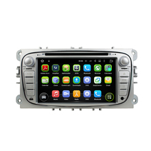 For Ford Focus 2008-2010 BLACK SILVER COLOR android5.1.1 HD 1024*600 car dvd player gps navi autoradio 3G wifi obd2 dvr FREE MAP