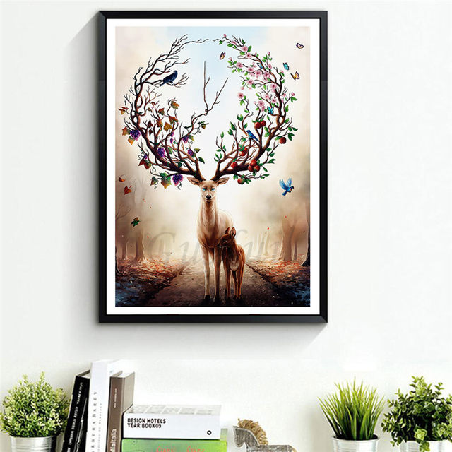 Online Shop Scandinavia Fresh Watercolor Animals No Frames Bird and ...