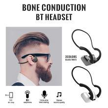 Беспроводные Bluetooth наушники с костной проводимостью, гарнитура с микрофоном для бега, велоспорта, фитнеса, черно белая, оптовая покупка