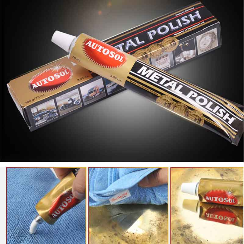New 1PC 75ml 100g Autosol Cream Knife Machine Polishing Wax Mirror Metal Stainless Steel Watch Polishing Paste