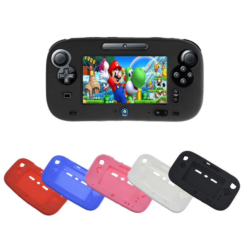 New Arrival 5 Colors Ultra Soft Silicone Full Body Protector Gel Case Cover Skin Shell for Nintendo For Wii U Gamepad 100pcs a lot wholesale silicone case skin shell protective cover for wii for u gamepad protector full body