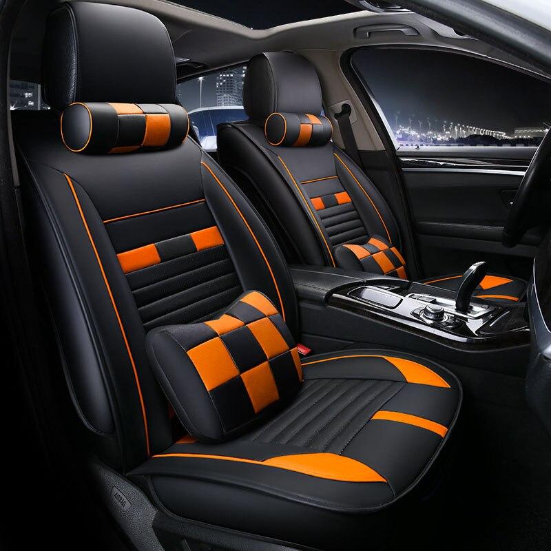 Universal car seat cover seats covers leather for GAZ font b Volga b font Gazell font