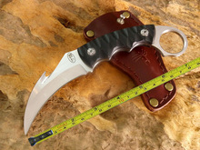 2016 claw Karambit Knife handmade hunting knives Fighting tactical survival pocket fixed knife camping self defense military