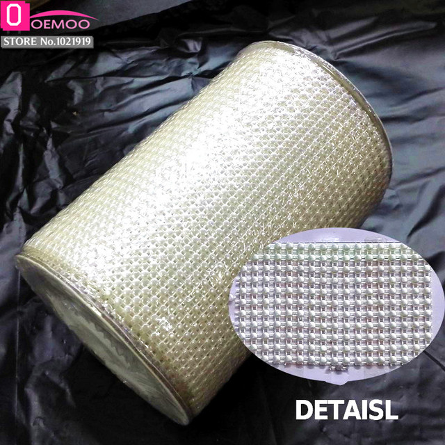 Beige/Ivory 48MM 5.5 yard/roll ABS Pearl Sewing Supplies for Wedding ...