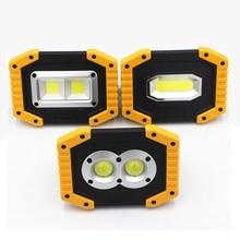 цены на 2019 NEW LED Portable Spotlight 20W flood light 18650 Rechargeable Battery working lamp for Camping lamp Hunting IP44 waterproof  в интернет-магазинах