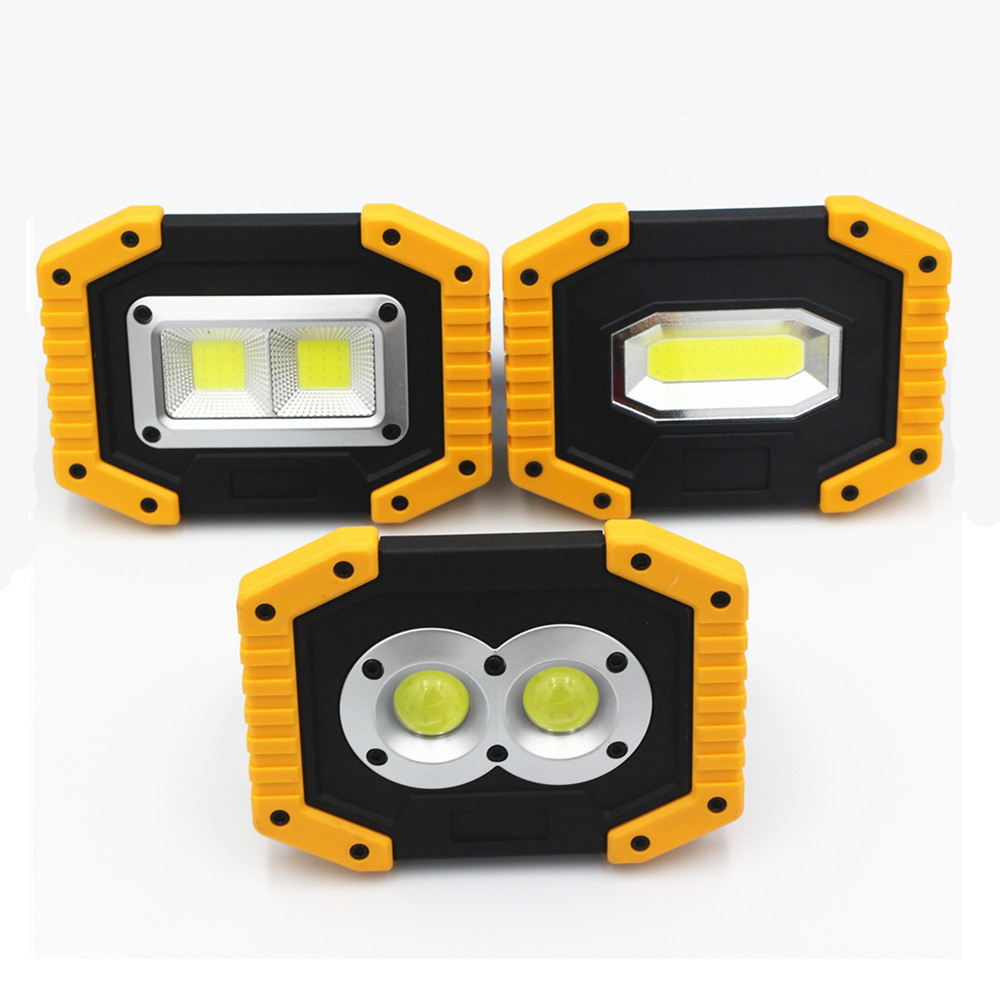 2019 NEW <font><b>LED</b></font> Portable Spotlight 20W flood light 18650 Rechargeable Battery <font><b>working</b></font> <font><b>lamp</b></font> for Camping <font><b>lamp</b></font> Hunting IP44 waterproof image