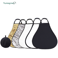 TRUMAGINE 60CM 5 in 1 Portable Collapsible Light Reflector For Photography Studio Multi Photo Disc With Handle