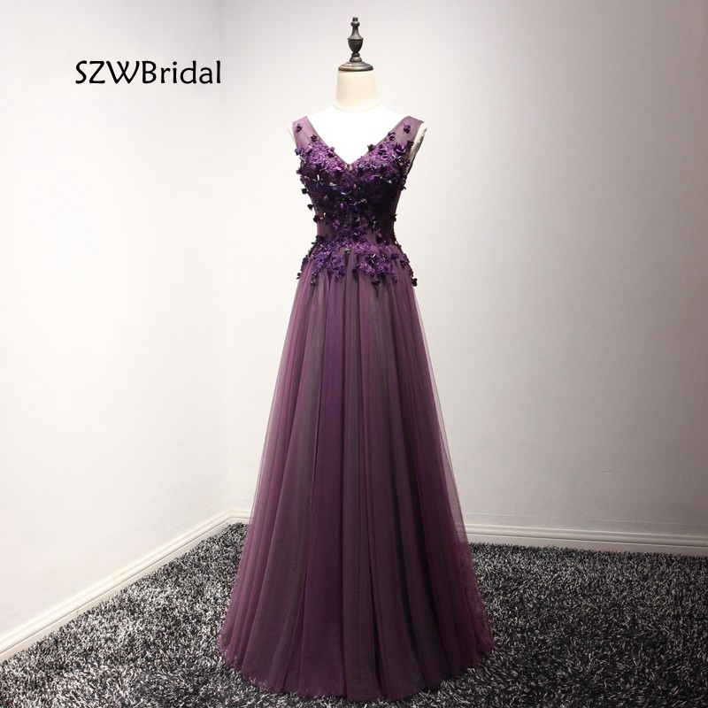New Arrival V Neck Purple Kaftan   evening     dresses   long 2019 Vestidos Formal   dress   Robe de soiree longue Cheap   evening     dress