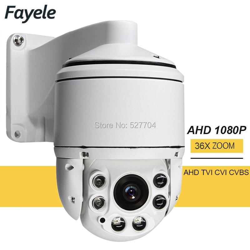 CCTV Sécurité Extérieure Haute Vitesse Dôme AHD 1080 p PTZ Caméra CVI TVI CVBS 4IN1 2MP 36X Zoom Coaxial PTZ contrôle Jour Nuit IR 100 m