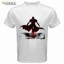 Лучший!  Летняя футболка с коротким рукавом CottonNew Hellsing * Alucard Anime Manga Vampire  мужская белая  Лучший!