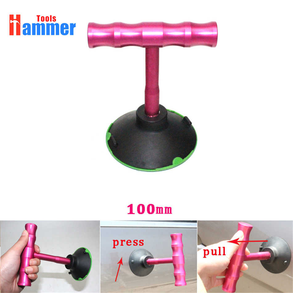 100mm Suction Cups Universal t-Type Car Truck Paintless Dent Repair Puller Tool