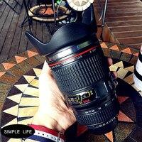 חיים פשוטים slr עדשת המצלמה אישיות יצירתית מחזיקים כוס תרמוס ואקום נירוסטה כוס קפה ספל משרד שולחן עבודה