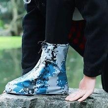 Непромокаемая защитная обувь, чехол для ботинок, унисекс, с пряжкой, для снежной погоды, с высоким берцем, нескользящая, толстая, детская, непромокаемая обувь
