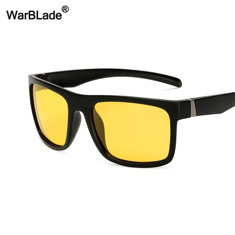 WarBLade Men Night Vision Sunglasses Male Car Driving Goggles Polarized Sun Glasses New Classic Designer Brand Yellow Anti Glare