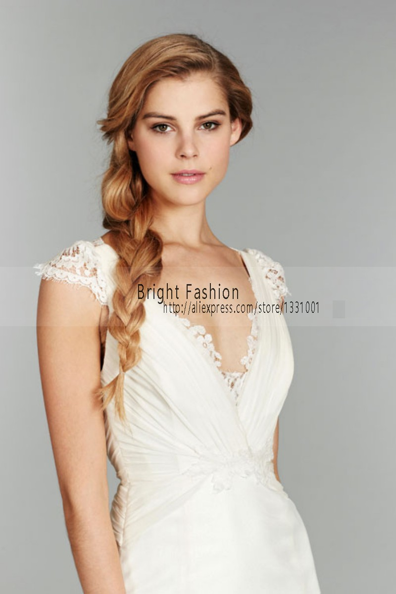 wedding dresses with sleeves no train
