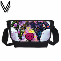 VEEVANV Women Messenger Bags Cute Dog 3D Prints Handbag Fashion Postman Crossbody Bag School Bookbag Teenager