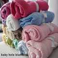 70*90cm Small Baby Blankets Cotton Baby Kid Blanket Summer Knit Hole Breathable Strollar Blankets mantas e cobertores Wholesale