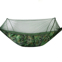 Portable Outdoor Camping Hammock With Mosquito Net Parachute Fabric Hammocks Beds Hanging Swing Sleeping Bed Tree Tent