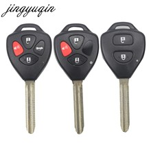 jingyuqin 30pcs/lot Replacement Fob Uncut Remote Key Shell Case For Toyota RAV4 Yaris Venza Scion tC/xA/xB/xC 2/3/4 Buttons(China)