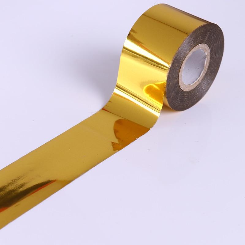 1 Roll Holo Starry Sky Nail Foil Tape 4cm*120m Nail Art Transfer Sticker Gold/Silver