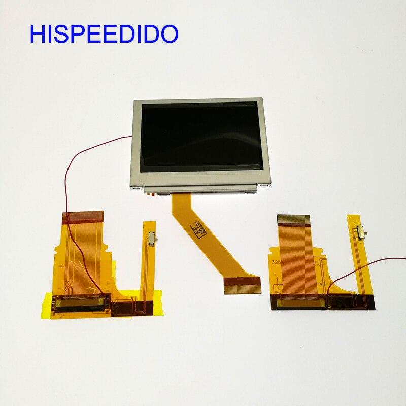 HISPEEDIDO pour GameBoy Advance GBA SP AGS 101 écran LCD rétroéclairé plus lumineux avec câble de ruban de commutateur de réglage 40pin/32pin-in Pièces de rechange et accessoires from Electronique    1
