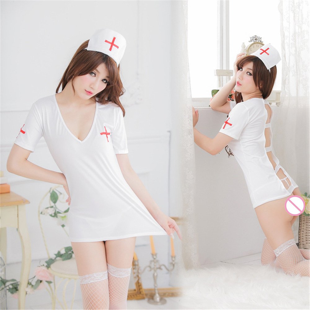 2017 Sexy Nurse Costume Set Fantasias Sex Erotic Cosplay -6843