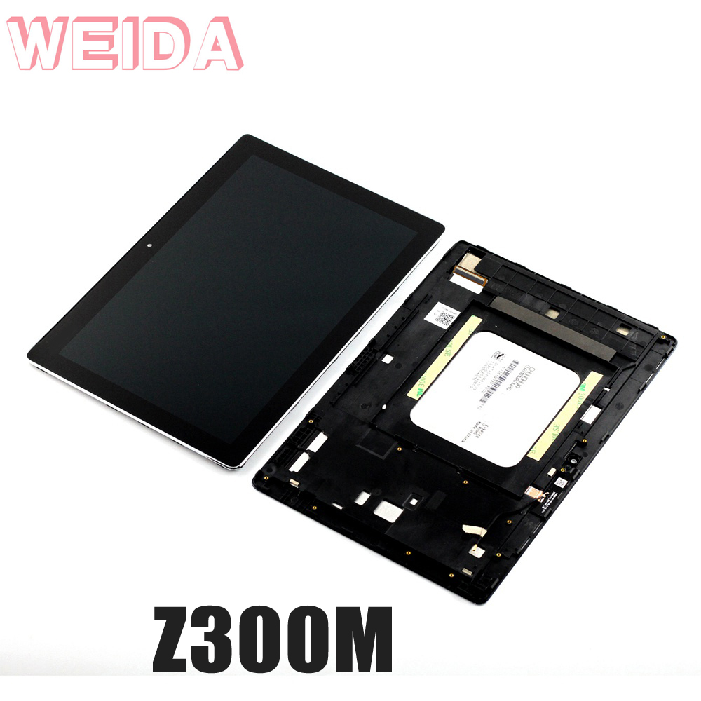 WEIDA For Asus Zenpad 10 Z300M Yellow cable 1280*800 LCD Display Touch Screen Assembly Frame TV101WXM NU1