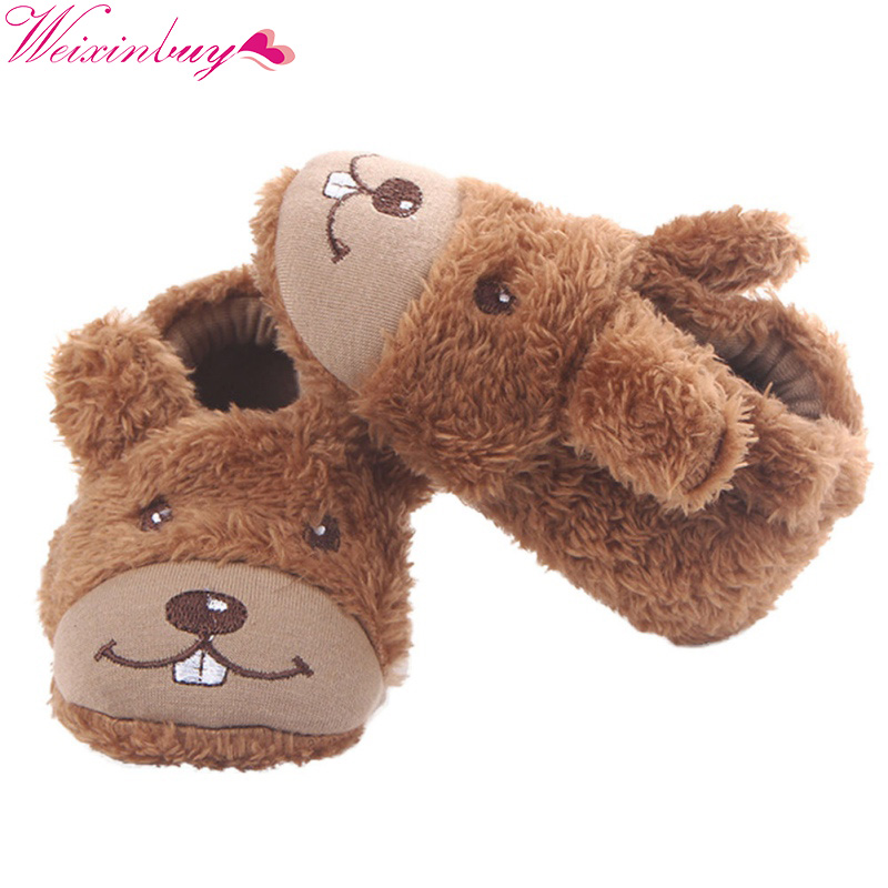 Baby Shoes Infant Toddlers Cute Smile Dog Baby Boy Girl Shoes Cartoon First Walkers