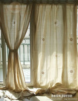 150 260cm High Quality Cotton Linen Crochet Vintage Curtains Las Cortinas Rideau Le Tende Der Vorhang