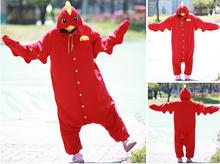Funny Stage Performance Costumes Red Chicken Onesies Adults Halloween Party dress Pajamas Sleepwear Costume