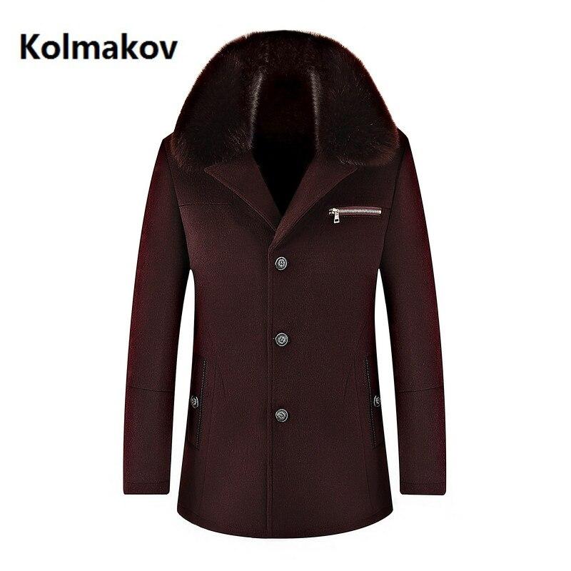 Winter high quality woolen jacket Men's fashion Business thicken trench coat Men's casual coat Classic men overcoat 6 colours - 2