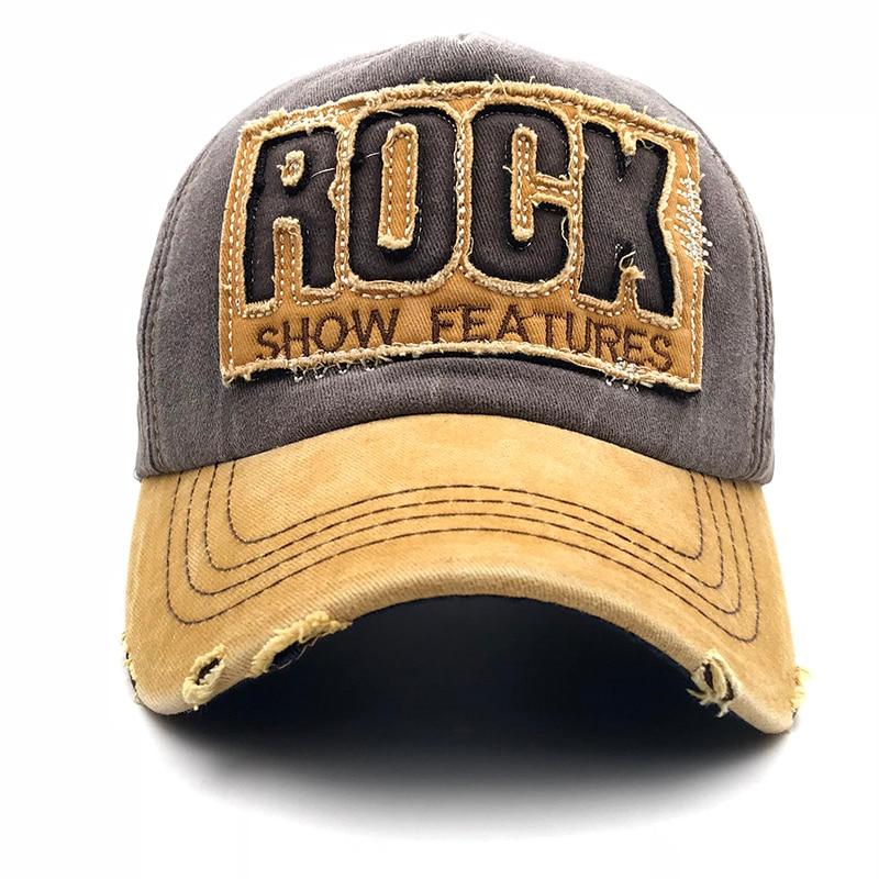 2019 High Quality Letter ROCK Embroidery Cotton Baseball Cap For Men Women Gorras Snapback Outdoor Sport Sun Hat