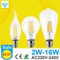 Antique Retro Vintage LED Edison Bulb E27 LED Bulb E14 Filament Light 220V Glass Bulb Lamp 4W 8W 12W 16W Candle Light Lamp